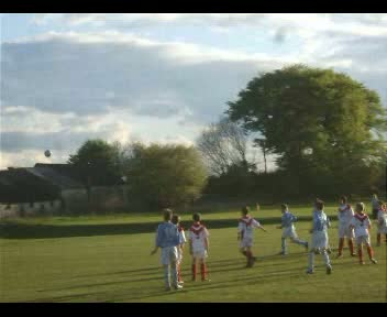 Jack G scores from a free-kick v Airdrie Utd Reds