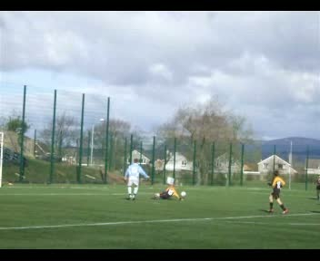 Ewan scores v Lochgreen