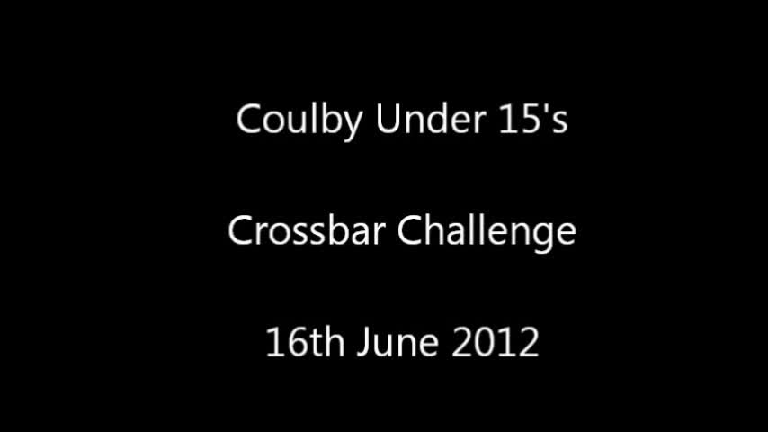 Under 15&#039;s Crossbar Challenge - 16th June 2012