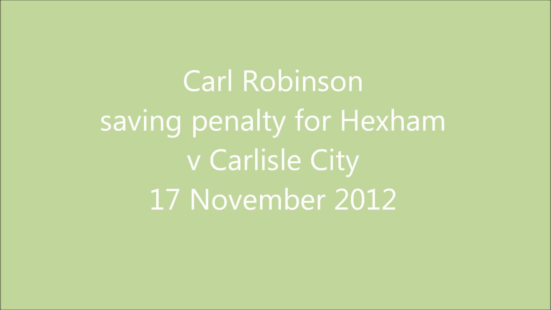 v Carlisle City 17/11/12