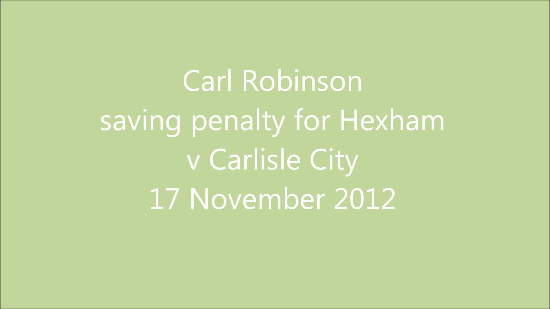 v Carlisle City 17/11/12