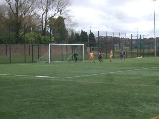 Callum scores a penalty v Carbrain