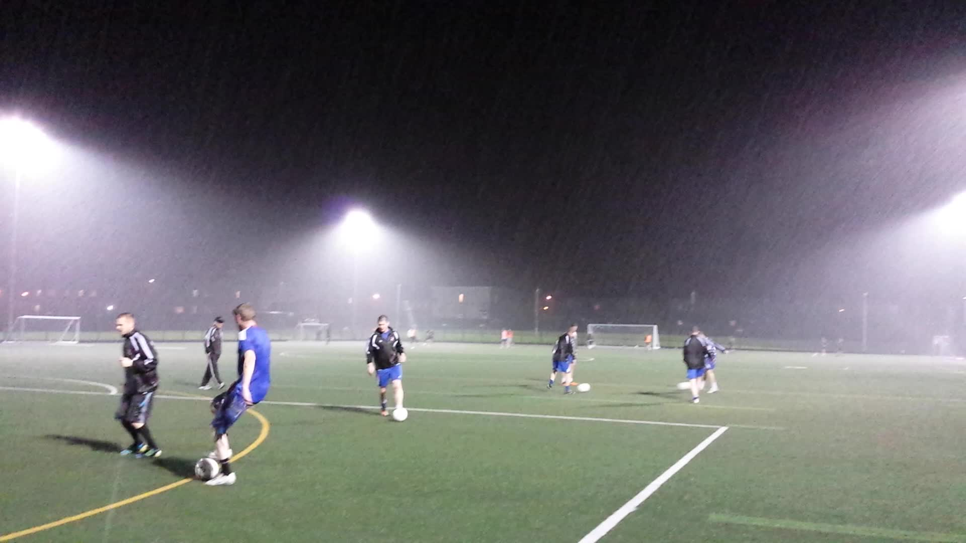 Training in torrential rain 3rd October 2013